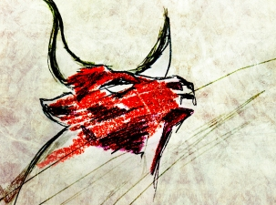 JENMEDIA works / just me drawing a bull