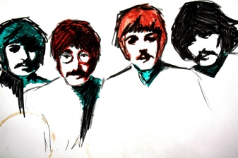 """""""Being honest may not get you a lot of friends but it'll always get you the right ones."""" #JohnLennon (October 9, 1940 - December 8, 1980) #TheStatusQuoth #Quotes #DailyQuote #Blog (JENMEDIA.NET) About this image: Random acts of doodle... drew with markers several years ago while drinking coffee (hence, the coaster stain); no clue why these colors..."""