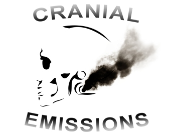 JENMEDIA WORKS OF YORE AND OTHER VISUAL MISC / CRANIAL EMISSIONS RADIO SHOW LOGO