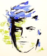 JENMEDIA random acts of doodle / work in progress / David Bowie stencil